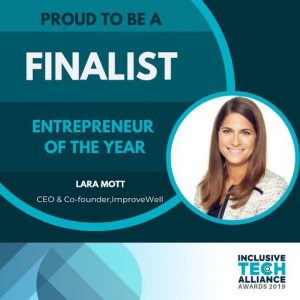 """ImproveWell CEO named a finalist for """"Entrepreneur of the Year"""" in 2019"""